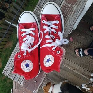 Red Converse Chuck Taylor's